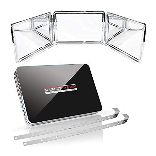 SELF-CUT SYSTEM 2.0 - LED Lighted Black Lambo 3 Way Mirror with -