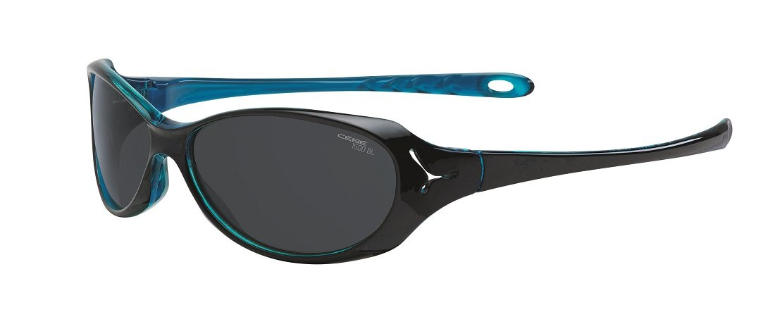 Cebe Koala 7+ Yrs Junior Sunglasses (shiny Black Crystal Blue Frame 1500 Grey Lens) j03CZ7f9