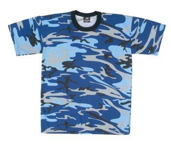 Large Blue Camo - Rothco Electric T-Shirt, Blue Camo, XX-Large