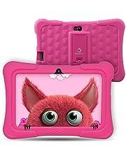 """Kids Tablet Android 9.0, Dragon Touch Y88X Pro Tablet PC Pad Lerntablet für Kids, 2 GB + 16 GB, 7"""" IPS-Touchscreen, G-Sensor, Google Play vorinstalliert mit Schutzhülle (Rosa)"""