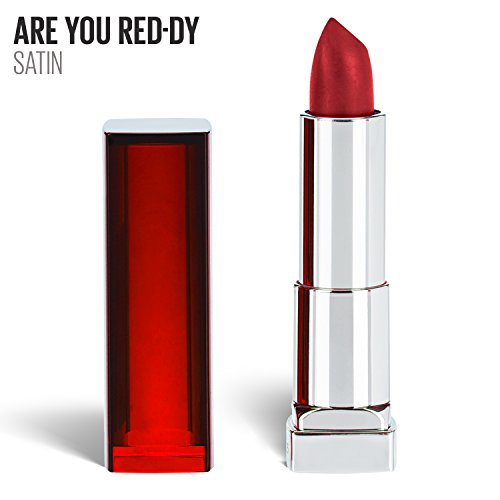 Maybelline New York Color Sensational Red Lipstick, Satin Lipstick, Are You Red-dy, 0.15 oz