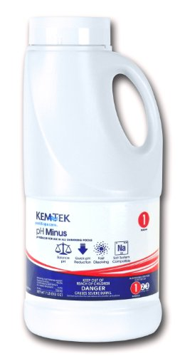 Kem-Tek KTK-50-0010 pH Minus Pool and Spa Chemicals, 7 Pounds