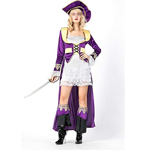 Courts Bride Halloween (Stylish Halloween costumes, gorgeous and festive Halloween costumes Pirates of the Caribbean Halloween costume party dress uniforms playing court pirate bride Comfortable, Full of Charm Halloween)