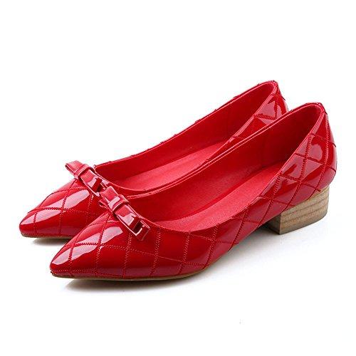 Fang-Studio Zapatos De Mujer,Arco Superficial,Baja Y Afilados Zapatos,Simple De Temperamento. Eu36