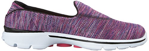 Skechers Performance Dames Go Walk 3 Fitknit Extreme Slip-on Wandelschoen Zwart / Multi