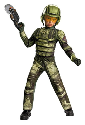 Foot Soldier Child Costume (Boys Foot Soldier Muscle Kids Child Fancy Dress Party Halloween Costume, M (7-8))