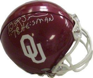 Billy Sims signed Oklahoma Sooners Mini Helmet 78 Heisman - Autographed College Mini - Mini Autographed Helmet Heisman