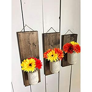 6PCS Artificial Flowers, 8.7'' Gerbera Daisies Silk Flowers Realistic Real Touch Fake Daisy Mum Flowers Chrysanthenum,Sunflowers Bouquet With Flocking Stems Gerber Daisy Fall Flowers for Home Decor 4