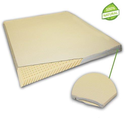 natural latex mattress topper with premium velvet covering cal king size bedroom store. Black Bedroom Furniture Sets. Home Design Ideas