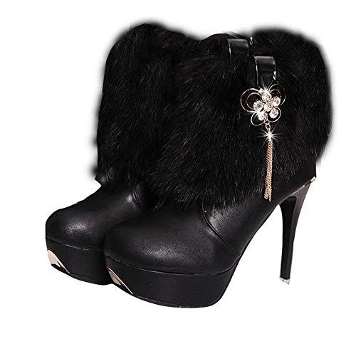 S Pu Hauts Super Talons 'bottes Chaussures Eu Imperméable Femmes' Bottes Deed 38 Mesdames qxCw1E1z