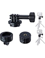 Tripod Mount Adapter for Gopro, Quick Release Tripod Base Mount 1/4 Screw + Universal Action Cam Mount Accessory Kits Compatible for Gopro Heo 8 7 6 5 Black/Gopro Max/DJI Osmo Action/Insta 360