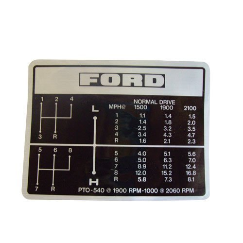 All States Ag Parts Shift Pattern Decal Ford 6600 5000 7000 7600 5600 7700 6700 D3NN7B292B