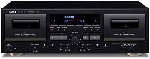 Best Price! Teac W-1200 Dual Cassette Deck with Recorder/ USB/ Pitch/ Karaoke-Mic-in and Remote