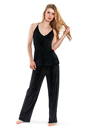Jones New York Women's 2PC Cami Top & Pant Set,Solid Velour (X-Large)