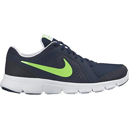 Nike Flex Experience LTR (GS) - Zapatillas de running, Niñas Negro / Verde / Blanco (Obsidian / Voltage Green-White)