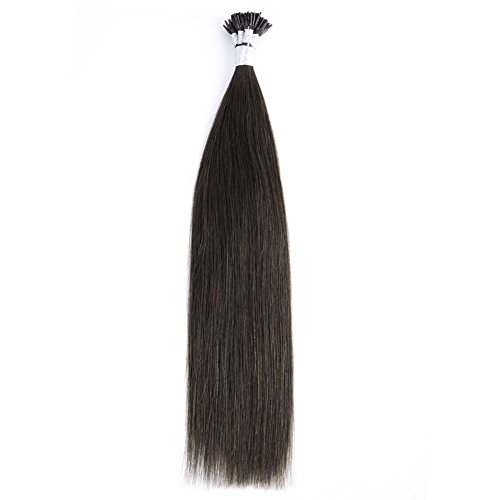 "Price comparison product image Ty.Hermenlisa 22"" Silky Straight Micro Rings Hair Extensions 100% Real Virgin Remy Human Hair Fusion Stick I Tip Extensions,  50strands / Pack,  35g,  Medium Brown( 4)"