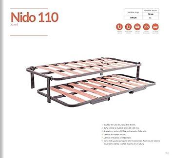 Nido 2 somieres, con Patas Plegables, Muebles economicos ref-07: Amazon.es: Hogar