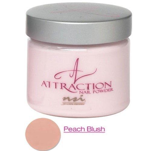 (NSI 'Attraction', acrylic nail powder, peach blush,)