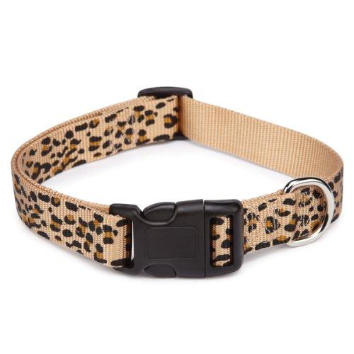 East Side Collection Nylon Animal Print Dog Collar, 10 to 16-Inch, Cheetah, My Pet Supplies