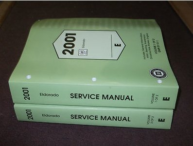 2001 Cadillac ELDORADO Service Repair Shop Manual Set FACTORY OEM 02 BOOKS (2 volume set)