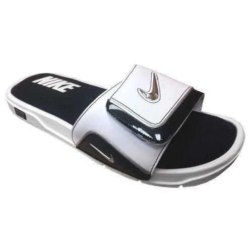Nike Herren Comfort Slide 2 Sandale Weiß / Metallic Silber-Schwarz