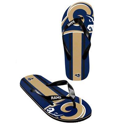 St Louis Rams official NFL Unisex Flip Flop Beach Shoes Sandals slippers size medium (Mens Slippers St Rams Louis)