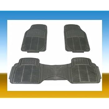 BDK Heavy Duty Car Floor Mats - Universal for Car Truck SUV - Full 3pc Set in Gray