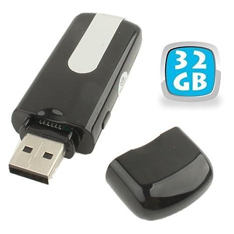 Memoria USB con mini cámara espía con detector de movimiento, U8, Micro SD, 32 GB: Amazon.es: Informática