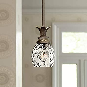 Hinkley 5317PZ Tropical British Colonial One Light Pendant from Plantation collection in Bronze Darkfinish,