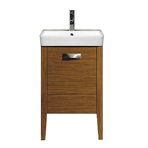 "Fine Fixtures MA20WT-VEMA20W Manchester Vanity with Vitreous China Sink, 20"", Wheat"
