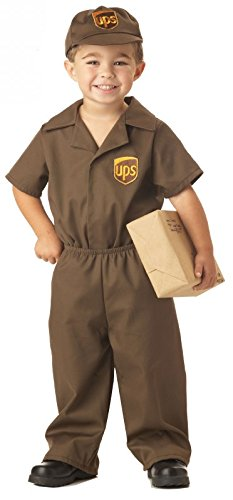 UPS Guy Costume - Toddler Large