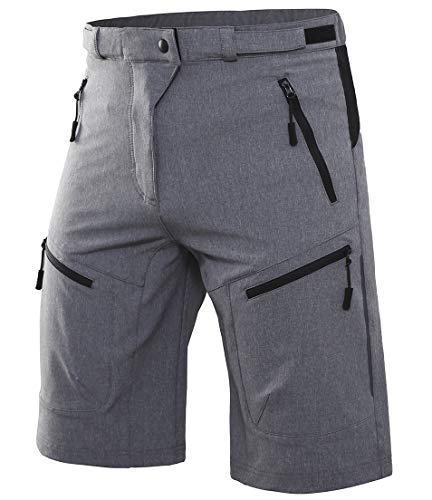 Wespornow Men's-Mountain-Bike-Shorts-MTB-Cycling-Shorts (Grey, M)