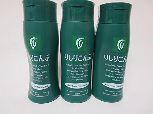 Rishiri Kombu Hair Color Treatment 200g Black 3 Bottles by Rishiri