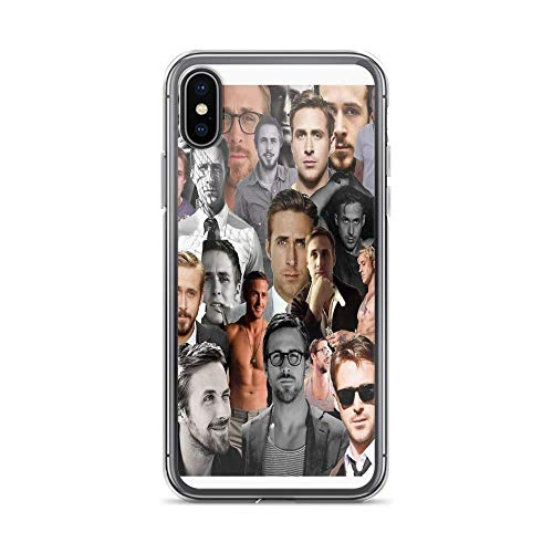 iPhone X Case iPhone Xs Case Clear Anti-Scratch Ryan Gosling Collage, Ryan Gosling Cover Phone Cases for iPhone X/iPhone Xs, Crystal Clear