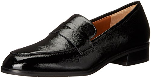 Aquatalia Women's Sharon Naplak Slip-On Loafer, Black, 5 M US