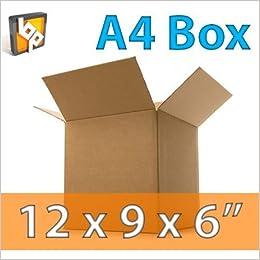 40e11ed2da Scatole A4 per spedizione libri, foto, documenti - 335x230x23mm - MEG4TEC  MADE IN UK