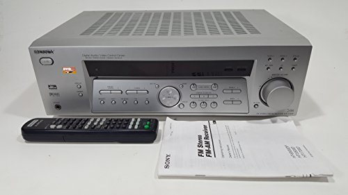 SONY STR-K740P SILVER FM STEREO FM AM RECEIVER 5.1 CHANNEL DIGITAL AUDIO/VIDEO CONTROL CENTER 80 WATTS