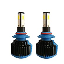 RSSONG 9005 LED Car Headlight Kit Bulbs COB Chips 100W 20000LM Per Pair With Canbus Drive 6000K White HB3/9145/9140/H10 led bulbs