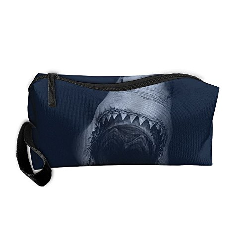 Cosmetic Bags Brush Pouch Makeup Bag Shark With Large Mouth Zipper Wallet Hangbag Pen Organizer Carry Case Wristlet Holder