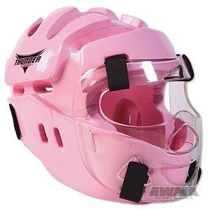 ProForce Thunder Full Headgear w/ Face Shield - Pink - Large