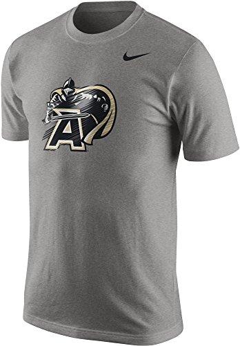 Nike US Army Black Knights Cotton Warp Speed Logo Men's T-Shirt (Grey Heather, XXL) - Nike Army Black Knights