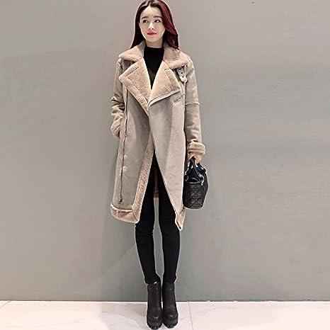 Los corderos de lana Womens HIDRRU abrigo de lana 2017 nuevo invierno algodón coat mujeres versión ...