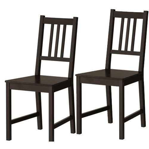 Set of 2 Ikea Stefan Chairs Black Brown Solid Wood (Furniture Ikea Sets Dining Room)