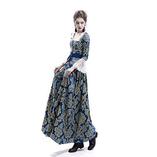 f72f665ce9 D-RoseBlooming Victorian Civil War Renaissance Masquerade Queen Masquerade  Party Dress