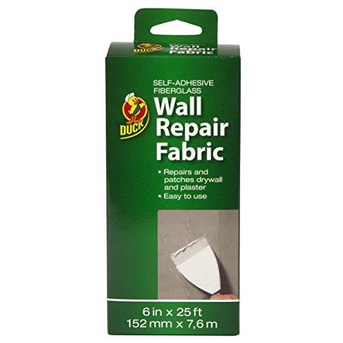 Repair Compound (Duck Brand 282084 Self-Adhesive Drywall Repair Fabric, 6-Inch by 25 Feet, Single Roll)