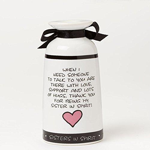 Enesco Children of The Inner Light Sis/Spirit Cancer Awareness Vase