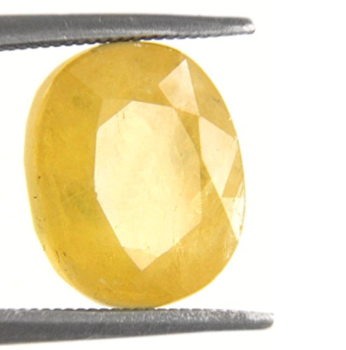 Be You 6.11cts Jaune Couleur Facettes Ovale Forme Naturel Birmane Saphir Jaune