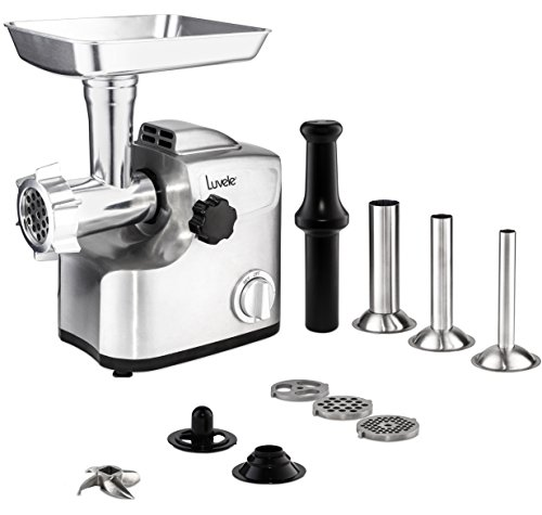 Luvele Ultimate Electric Meat Grinder Stainless Steel Sausage Maker 1800w...