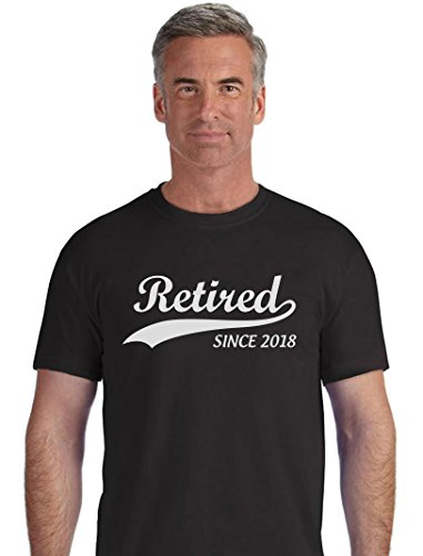 TeeStars - Retired Since 2018 - Retirement Gift Idea T-Shirt X-Large Black