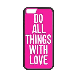 Case Cover For SamSung Galaxy S5 Do All Things With Love Pink Hard Frame & PC Hard Back Protective Cover Bumper Case for Case Cover For SamSung Galaxy S5 (2014)